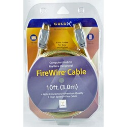 GoldX GX1394AA-10 10FT 6 PIN M TO 6 PIN M