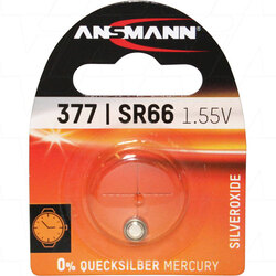 Ansmann 1.55V Silver Oxide Watch Battery 377 / SR66 / SR626