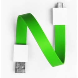 Mohzy USB to Micro USB Loop Cable in Fresh Lime