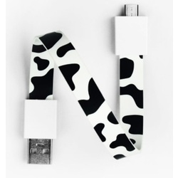 Mohzy USB to Micro USB Loop Cable in Cow Pattern