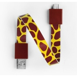 Mohzy USB to Micro USB Loop Cable in Giraffe Pattern
