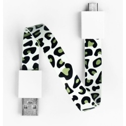 Mohzy USB to Micro USB Loop Cable in Snow Leopard Pattern
