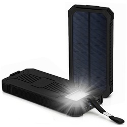 Solar Power Bank 10,000mAh Black