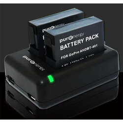 PurEnergy GoPro Hero4 Dual Charger with Battery
