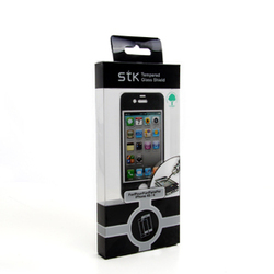 IPhone 4/4S Black Tempered Glass Protector