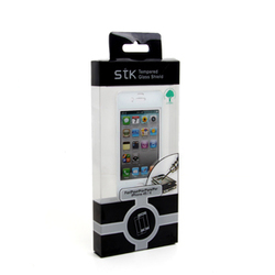 IPhone 4/4S White Tempered Glass Protector