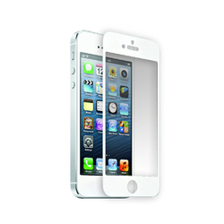 IPhone 5 White Tempered Glass Protector