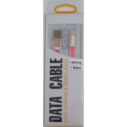 Lightning to USB  1M Data/Charge Cable Pink